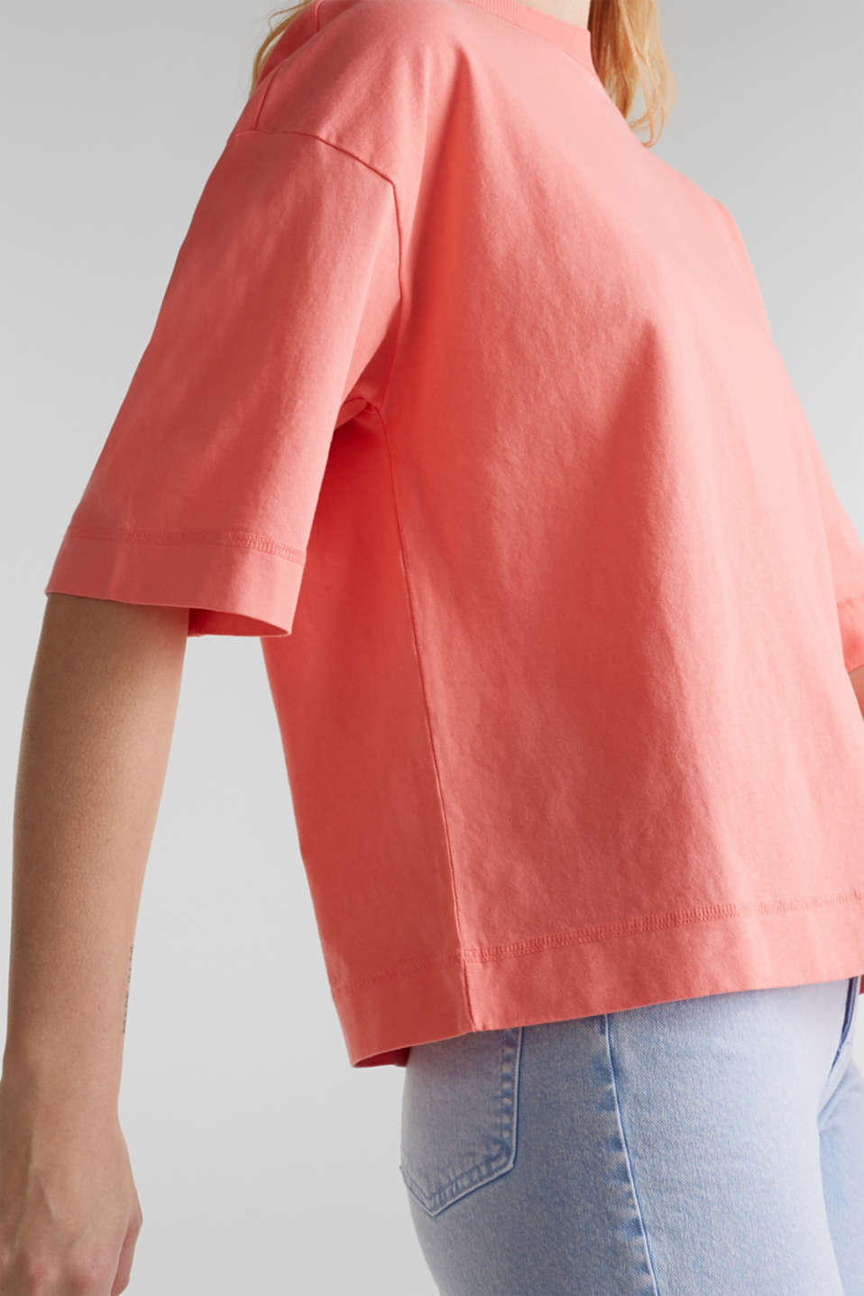 Loose T-shirt in 100% cotton, CORAL 3, detail image number 2