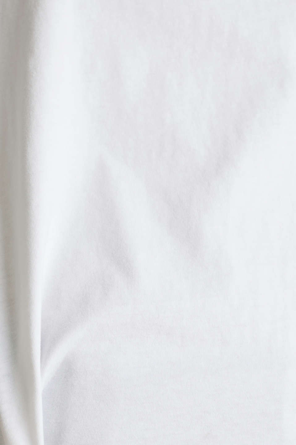 Loose T-shirt in 100% cotton, WHITE, detail image number 4