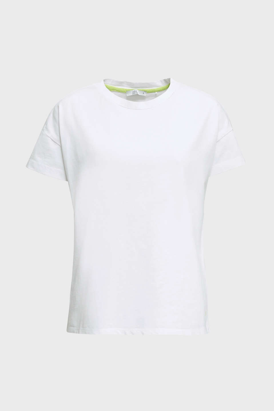 Loose T-shirt in 100% cotton, WHITE, detail image number 5