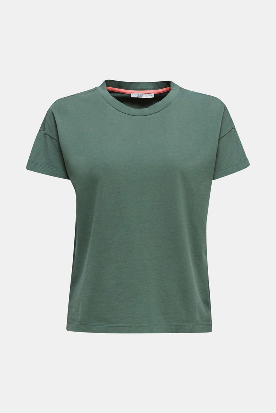 Loose T-shirt in 100% cotton, KHAKI GREEN 4, detail image number 6