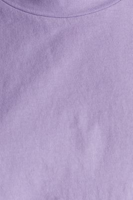 Loose T-shirt in 100% cotton, LILAC 4, detail