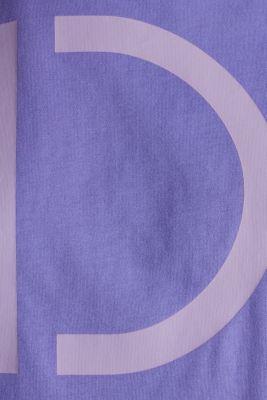 Boxy logo T-shirt made of 100% cotton, DARK LAVENDER, detail