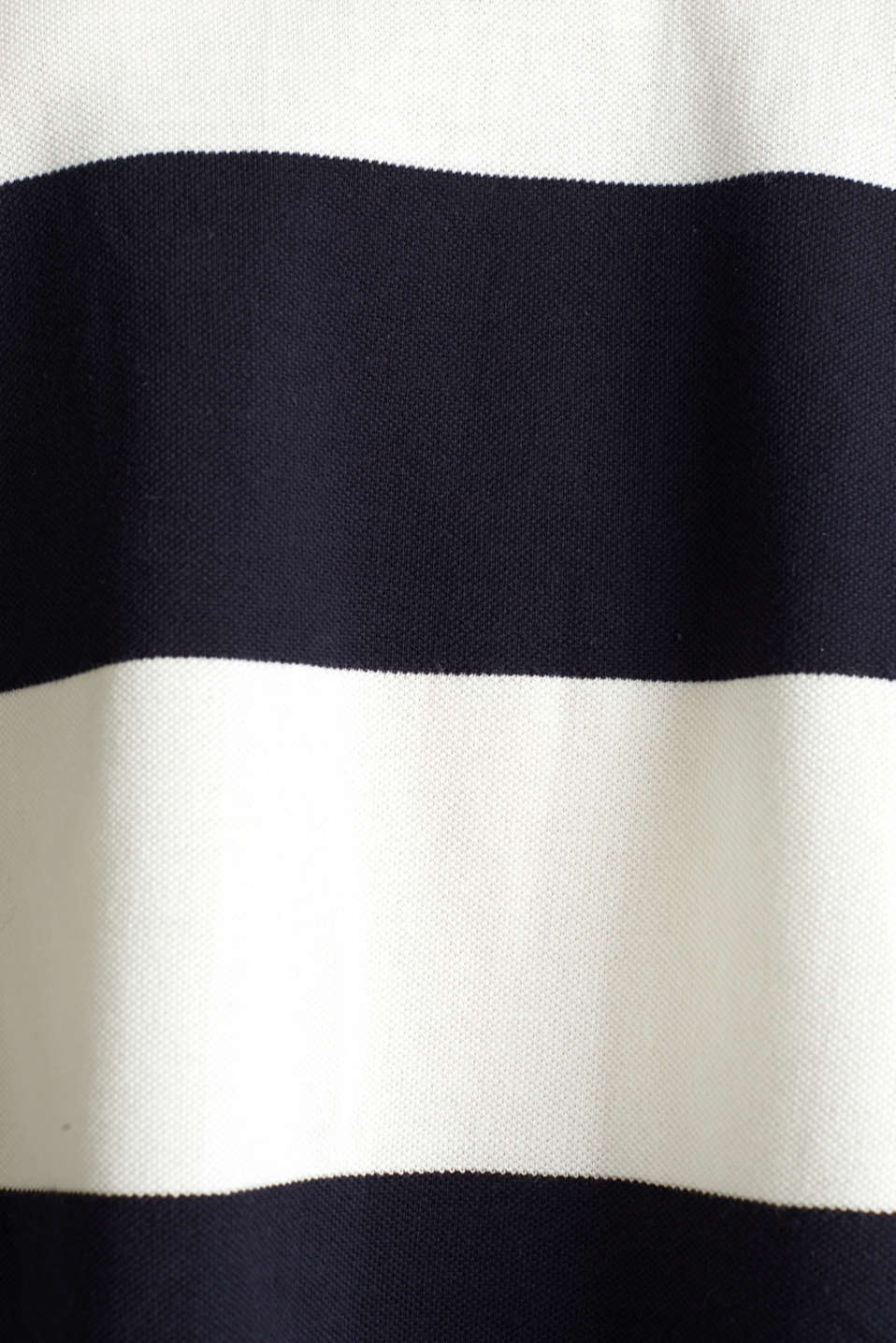 Boxy block stripe piqué polo shirt, NAVY, detail image number 4