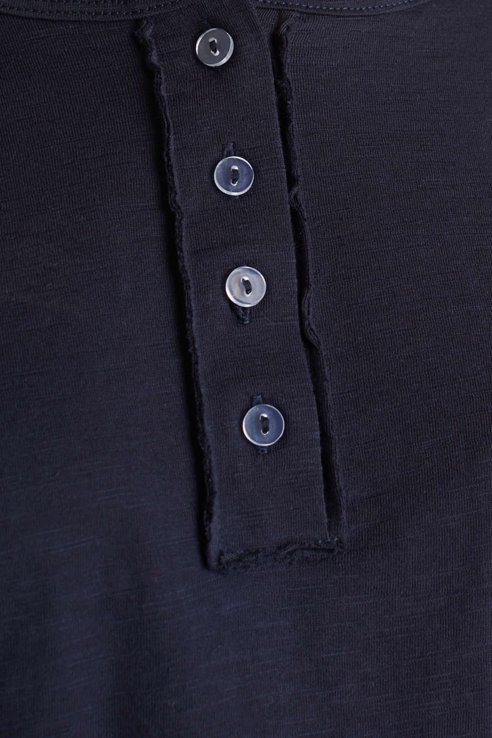 Slub jersey Henley top, 100% cotton, NAVY, detail image number 4