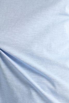 Slub top with knit trims, BLUE LAVENDER, detail