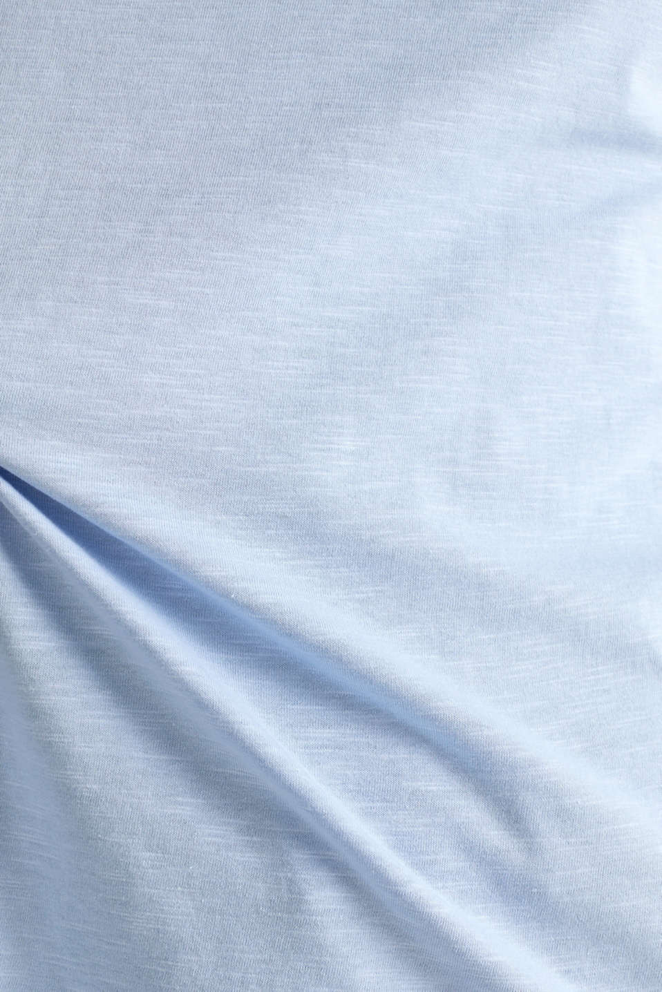 Slub top with knit trims, BLUE LAVENDER, detail image number 4
