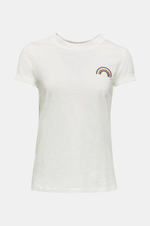 T-shirt with a striking print, 100% cotton