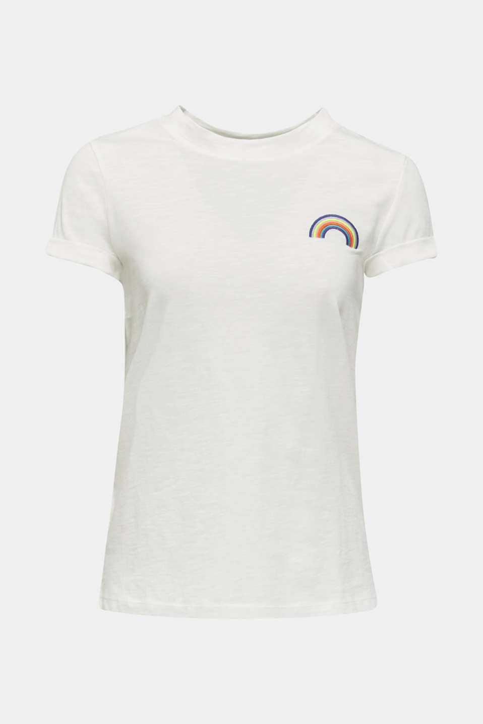 T-shirt with a striking print, 100% cotton, OFF WHITE, detail image number 5