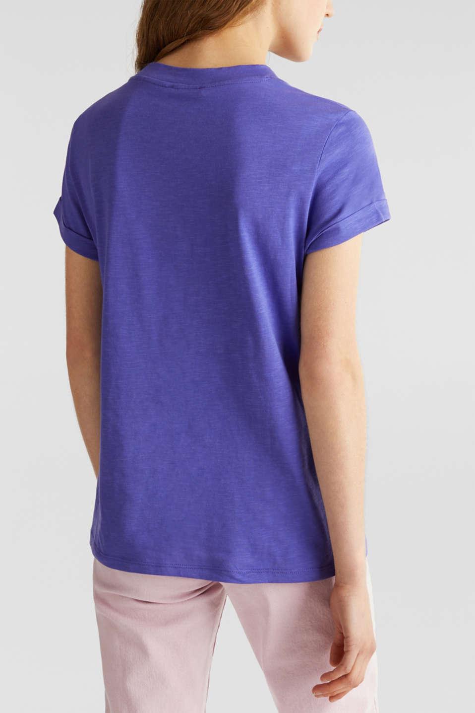 T-shirt with a striking print, 100% cotton, DARK LAVENDER, detail image number 2