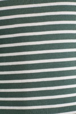 Finely ribbed long sleeve top made of 100% cotton, KHAKI GREEN 4, detail