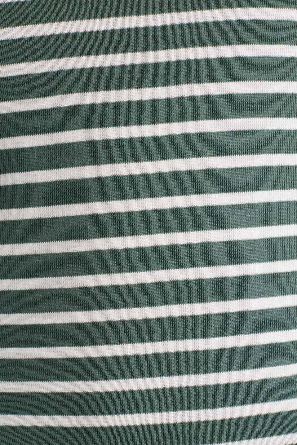 Finely ribbed long sleeve top made of 100% cotton, KHAKI GREEN 4, detail image number 3