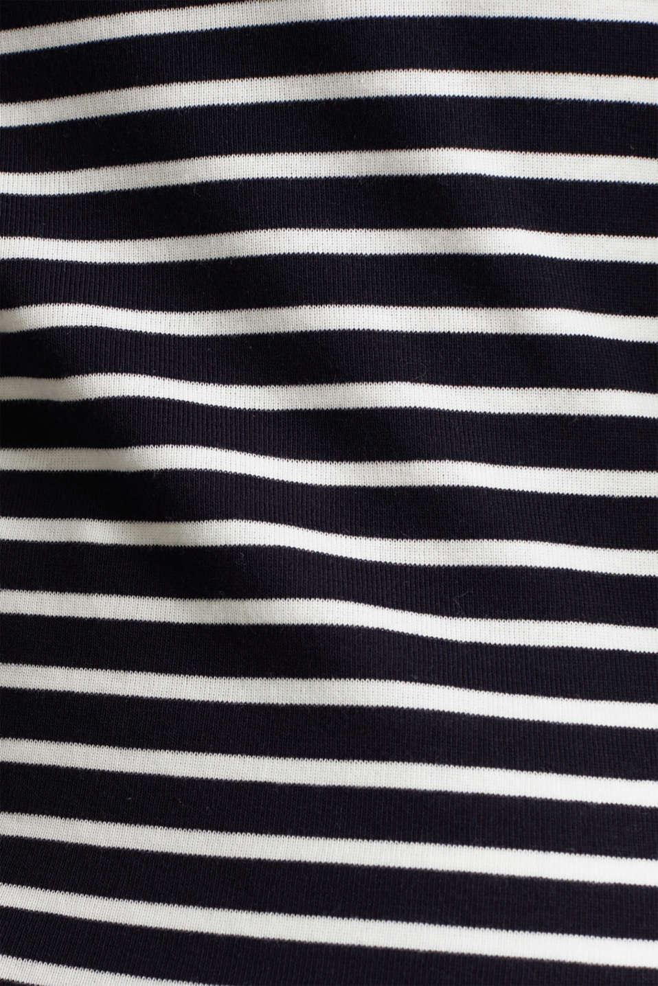 Finely ribbed long sleeve top made of 100% cotton, NAVY, detail image number 4