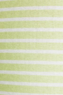 Finely ribbed long sleeve top made of 100% cotton, LIME YELLOW 4, detail