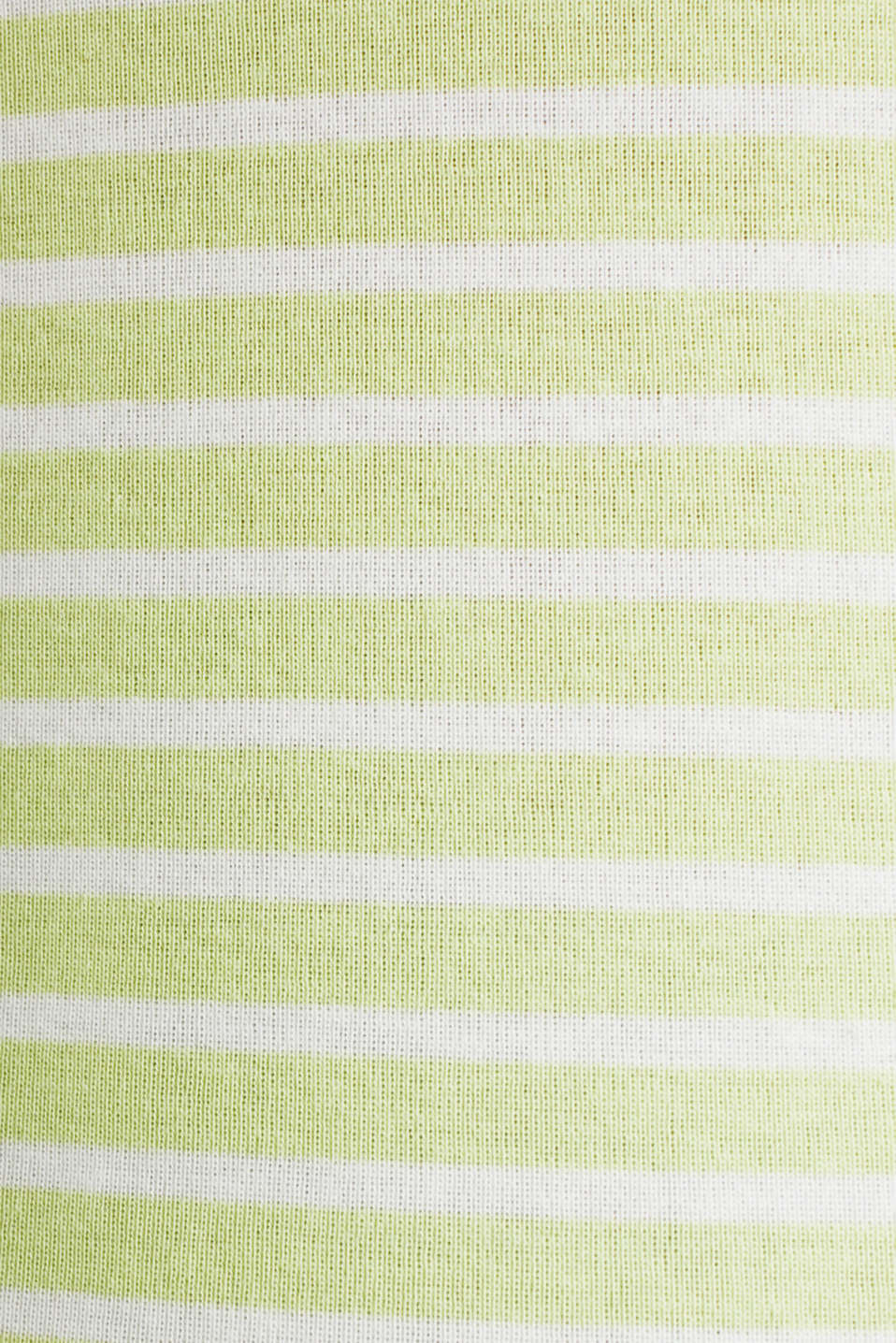 Finely ribbed long sleeve top made of 100% cotton, LIME YELLOW 4, detail image number 4