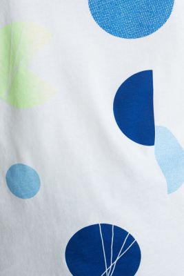 T-shirt with a graphic print, 100% cotton, OFF WHITE, detail