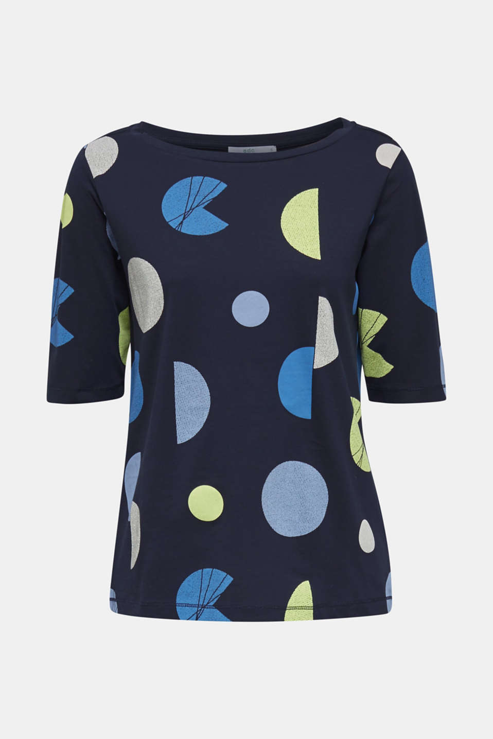 T-shirt with a graphic print, 100% cotton, NAVY, detail image number 7
