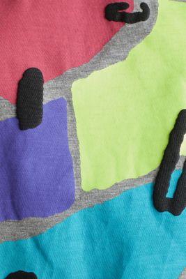 Slub T-shirt with geometric print, MEDIUM GREY 5, detail