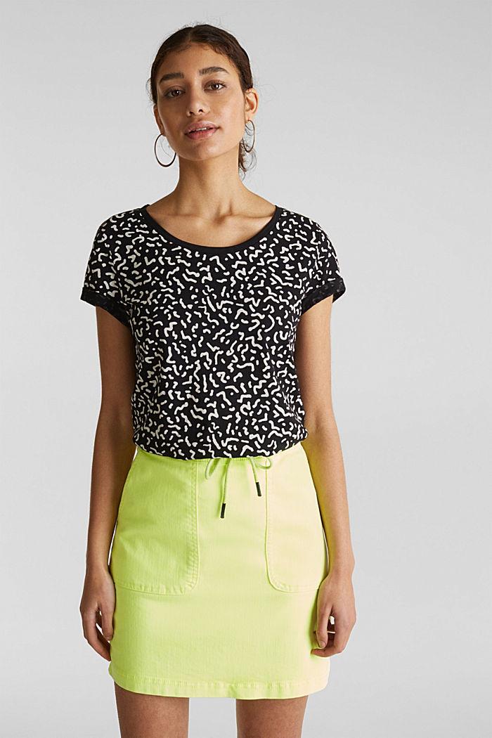 Tričko slub s grafickým potiskem, 100% bavlna, BLACK, detail image number 0