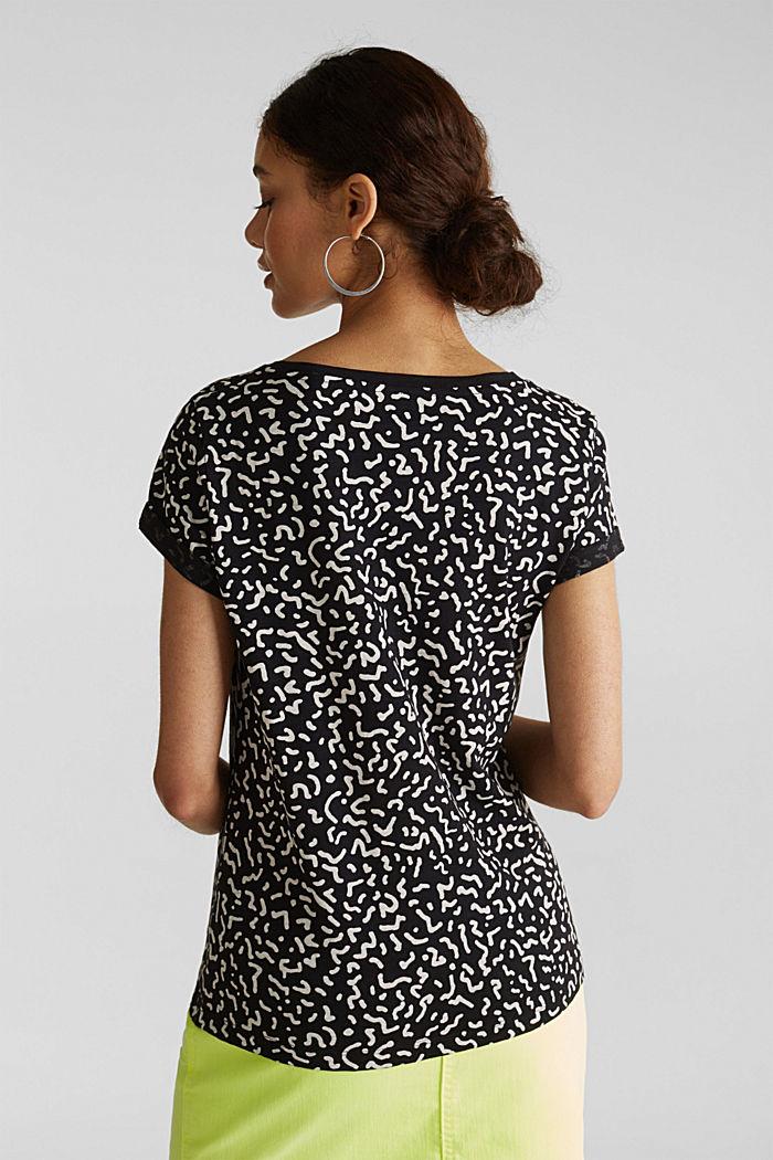 Tričko slub s grafickým potiskem, 100% bavlna, BLACK, detail image number 3