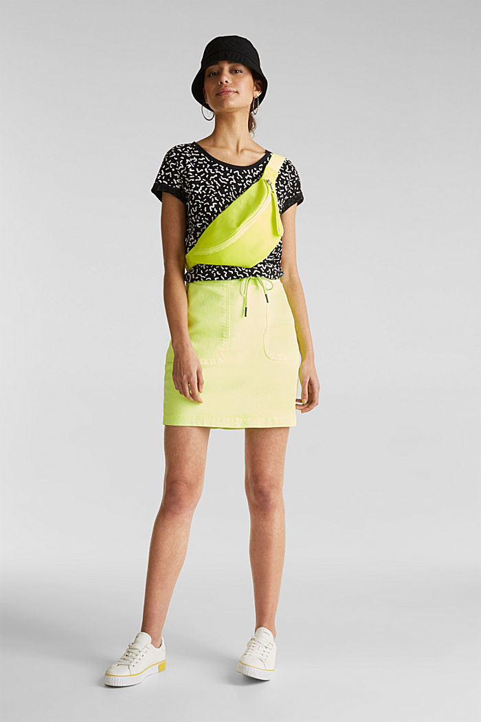 Tričko slub s grafickým potiskem, 100% bavlna, BLACK, detail image number 1