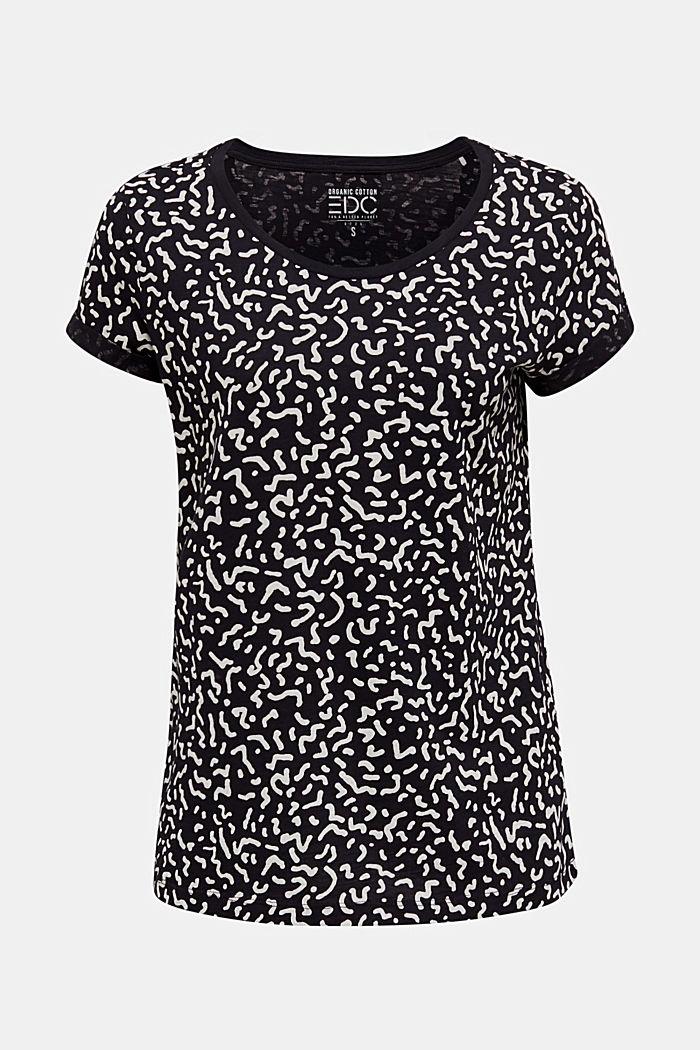 Tričko slub s grafickým potiskem, 100% bavlna, BLACK, detail image number 6