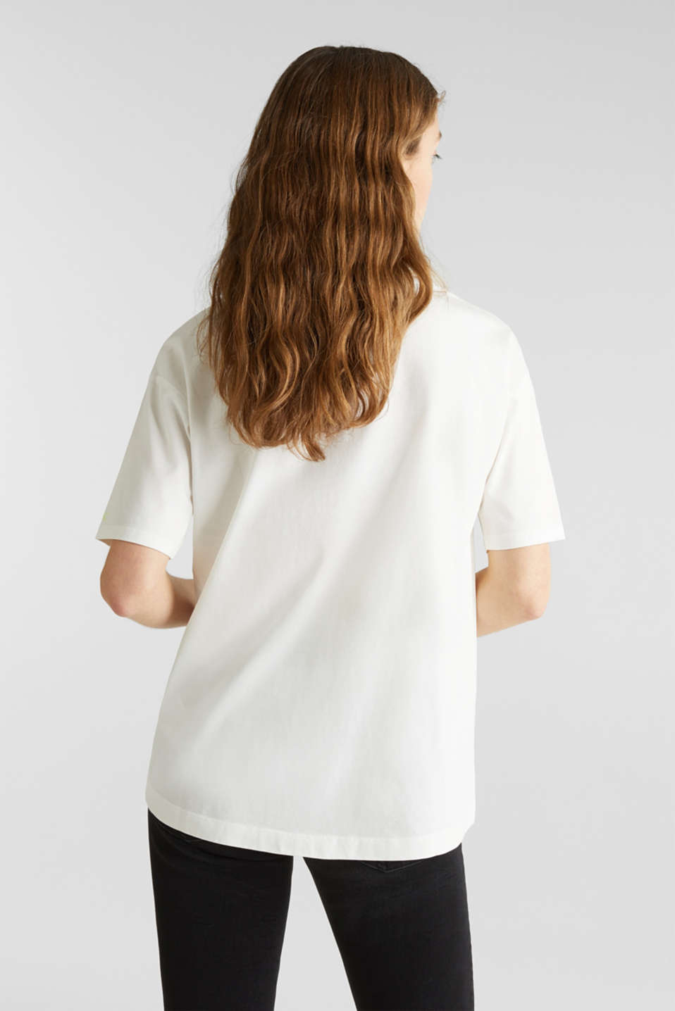 T-shirt with an arty print, 100% cotton, OFF WHITE, detail image number 3