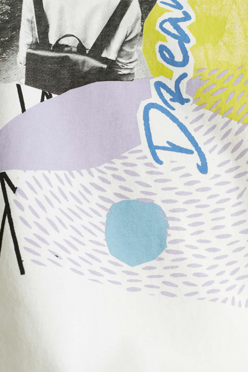 T-shirt with an arty print, 100% cotton, OFF WHITE, detail image number 4