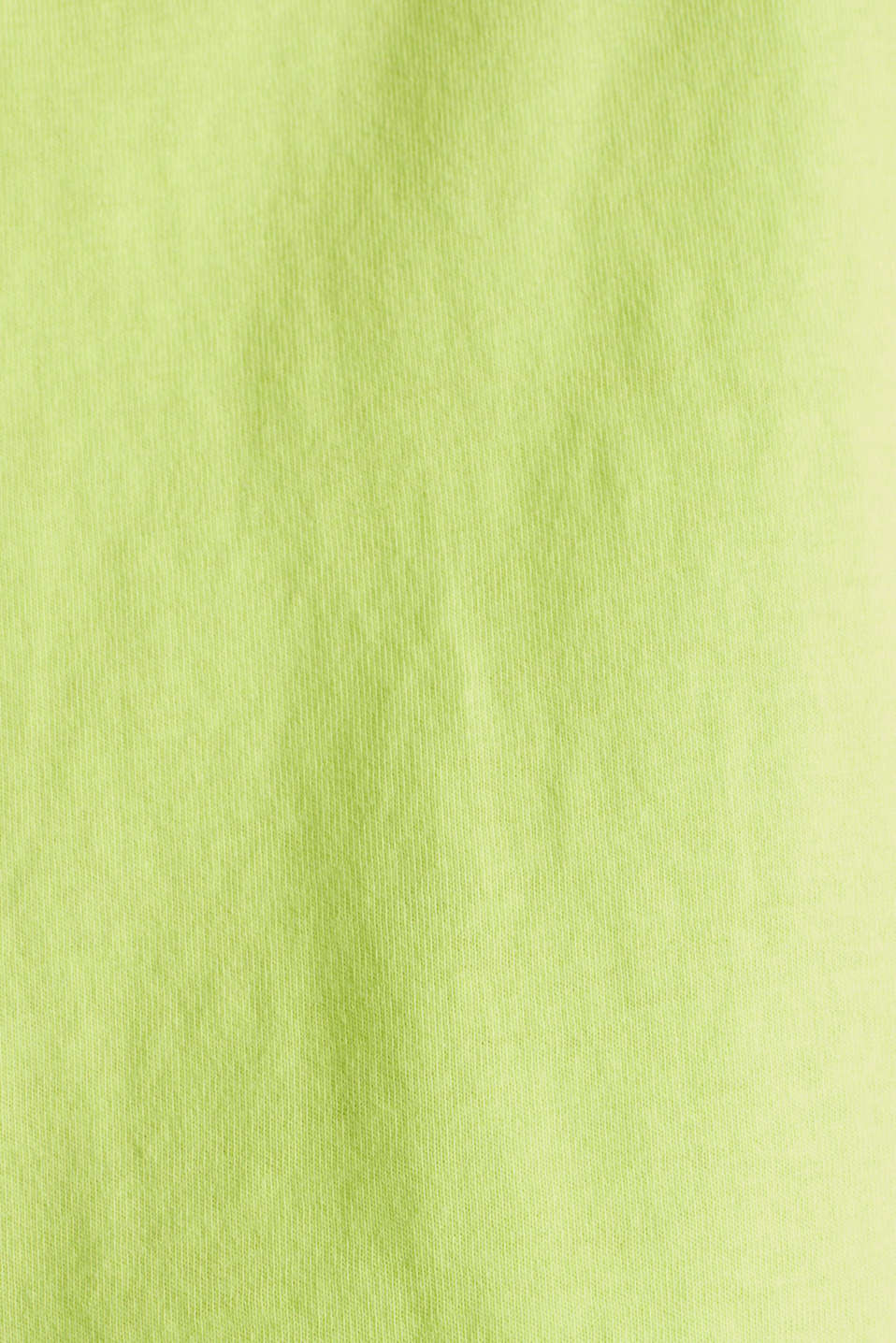 T-shirt with a retro print in 100% cotton, LIME YELLOW, detail image number 3