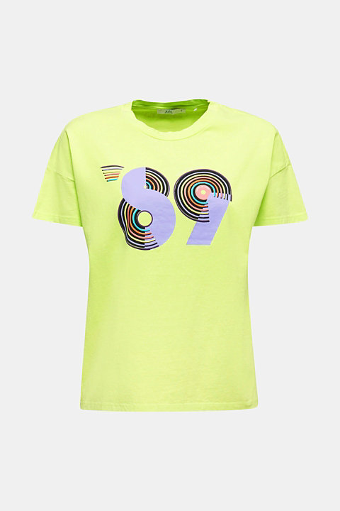 T-shirt with a retro print in 100% cotton