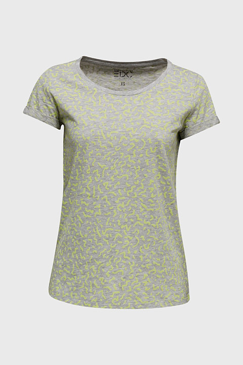 NEON melange T-shirt with print