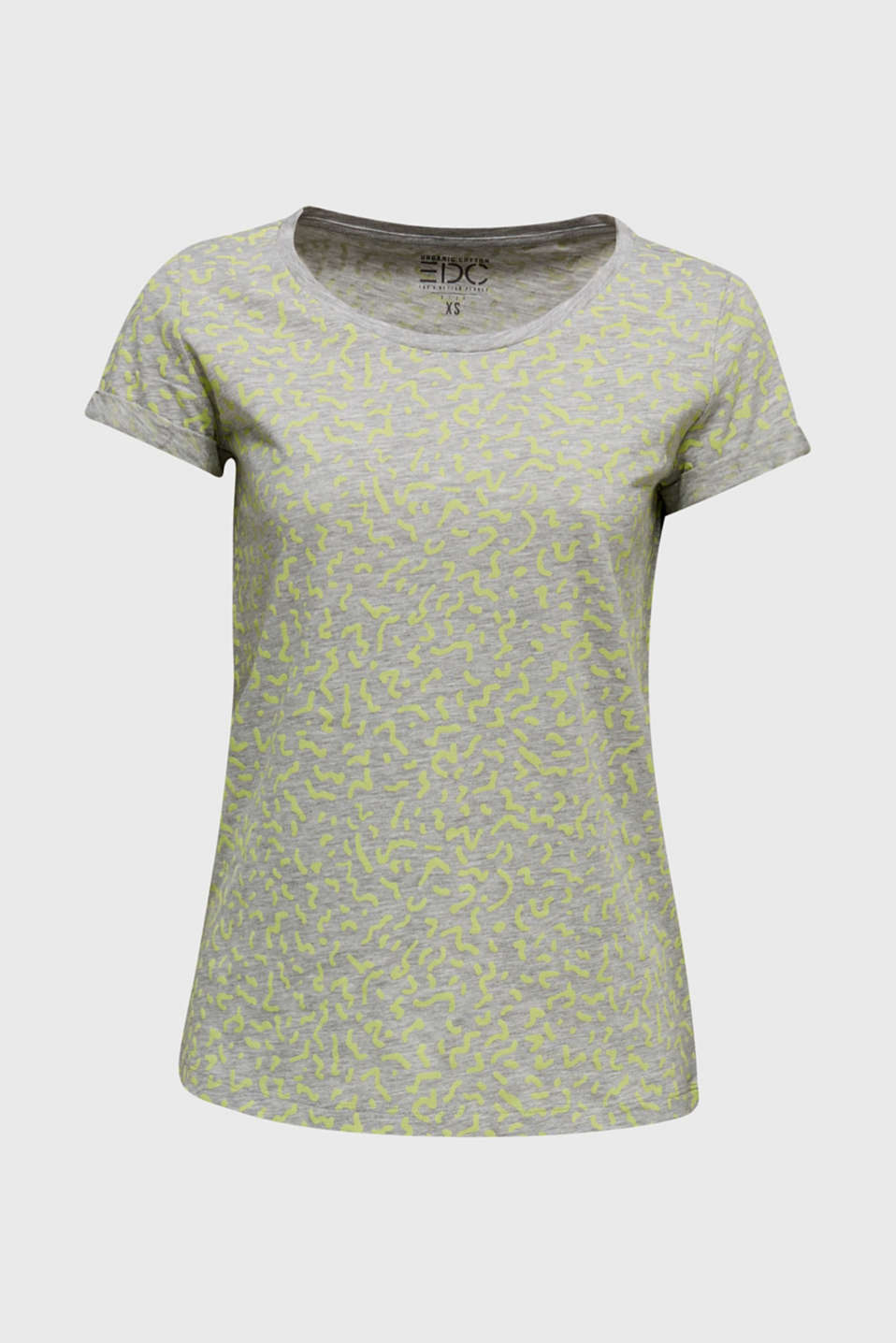NEON melange T-shirt with print, LIGHT GREY 5, detail image number 7