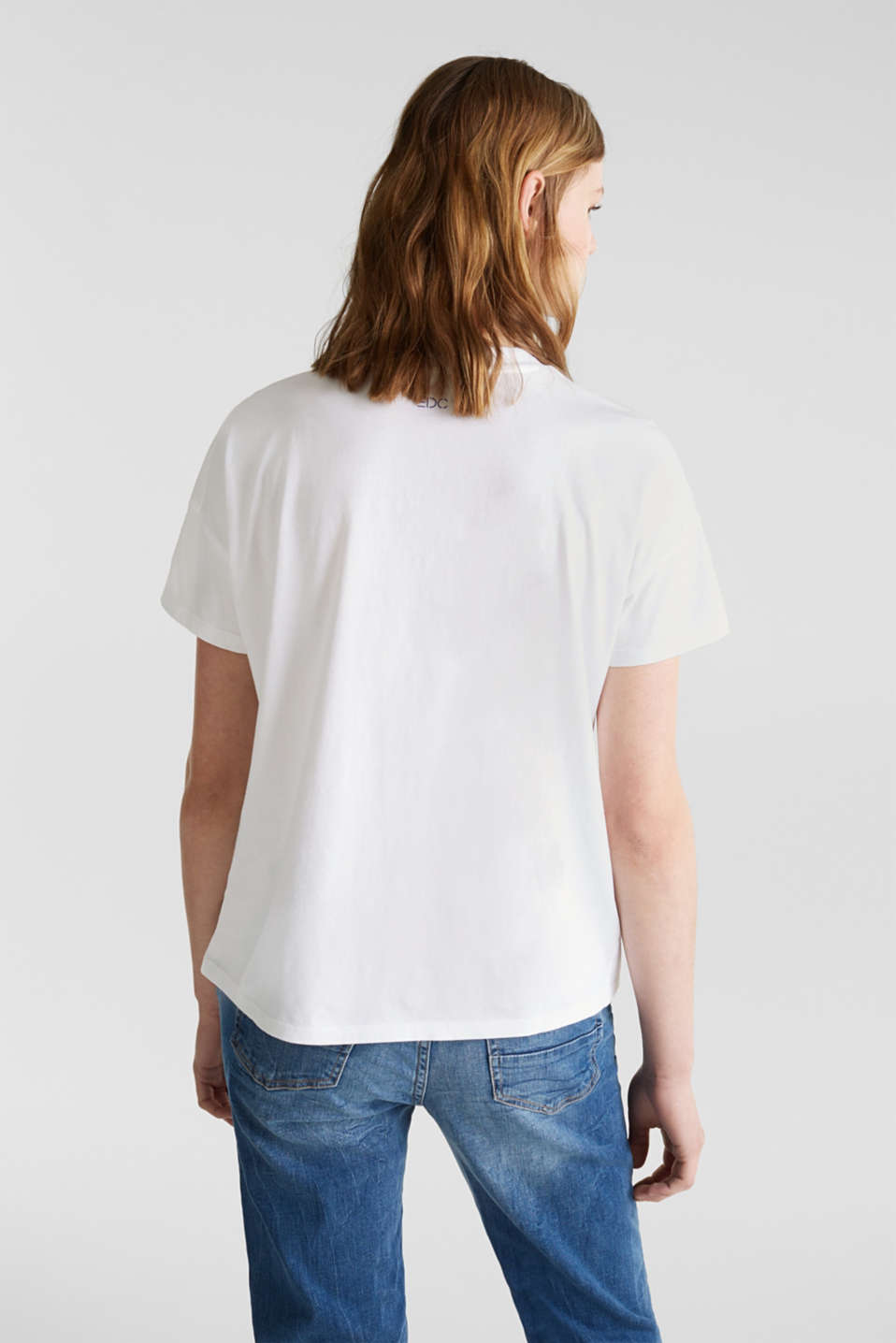 Print T-shirt with organic cotton, WHITE, detail image number 2