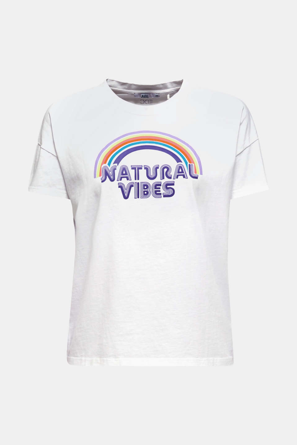 Print T-shirt with organic cotton, WHITE, detail image number 6