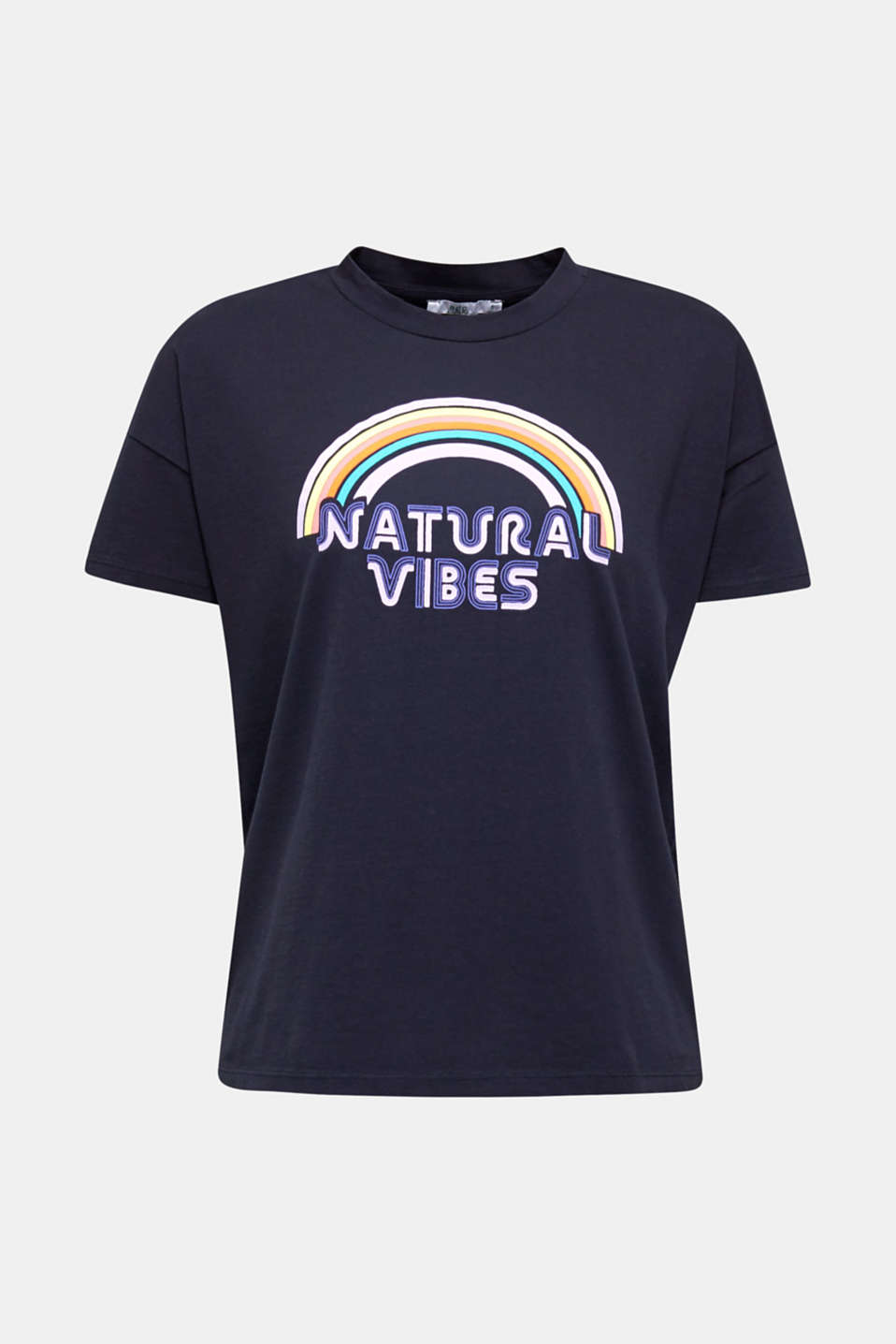 Print T-shirt with organic cotton, NAVY, detail image number 6