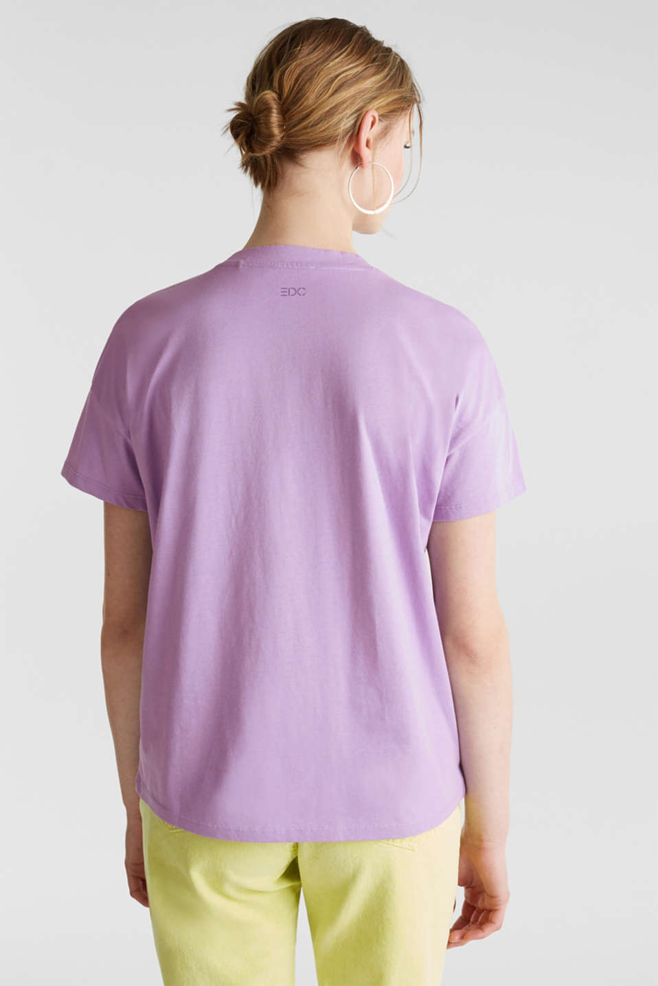 Print T-shirt with organic cotton, LILAC, detail image number 3