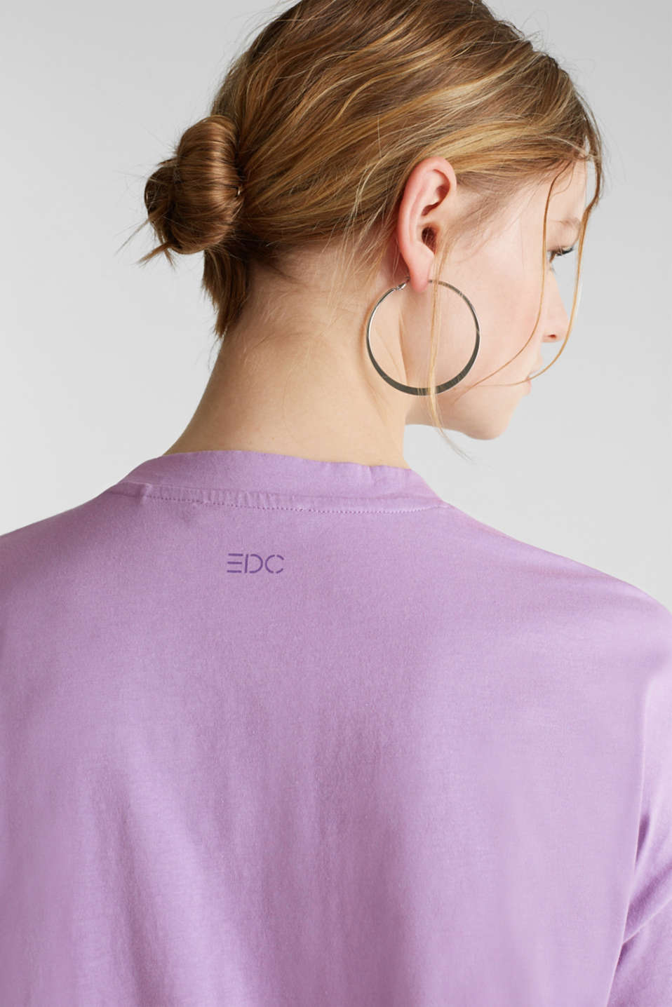 Print T-shirt with organic cotton, LILAC, detail image number 5
