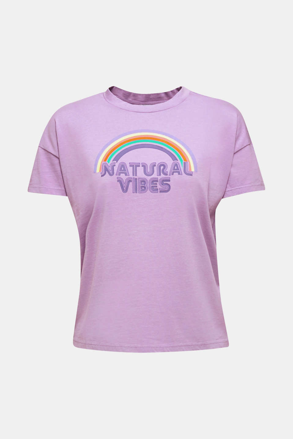 Print T-shirt with organic cotton, LILAC, detail image number 7
