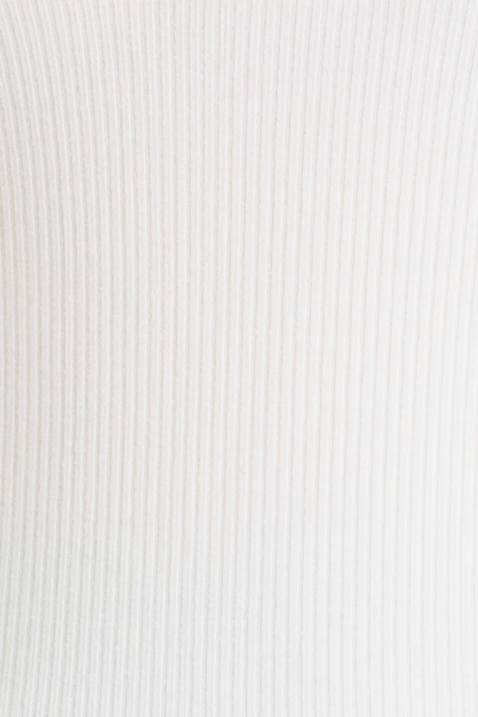 Ribbed top with a back neckline, OFF WHITE, detail image number 4