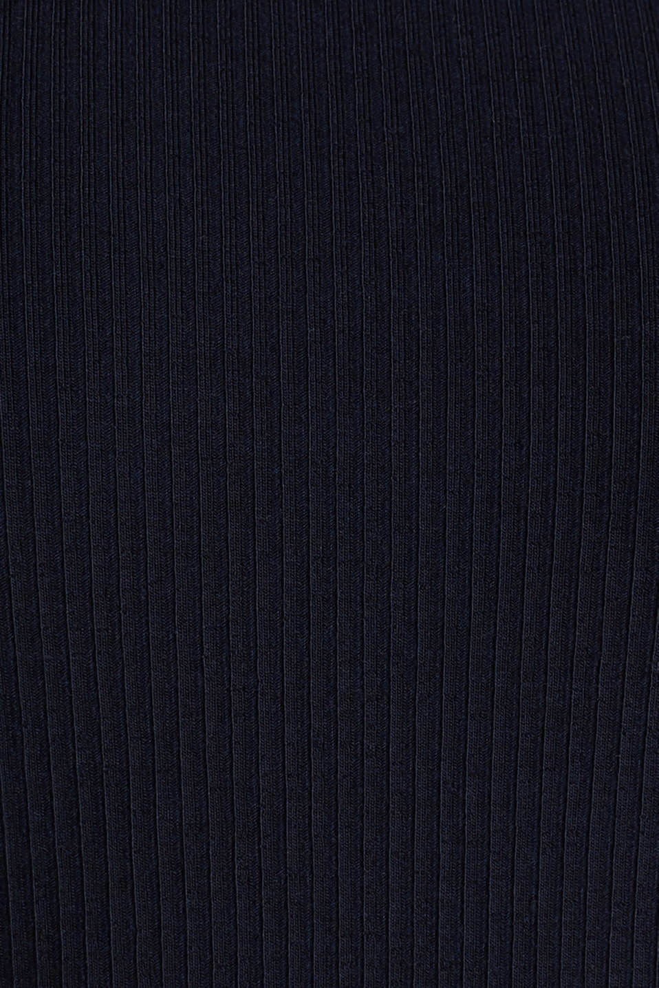 Ribbed top with a back neckline, NAVY, detail image number 3