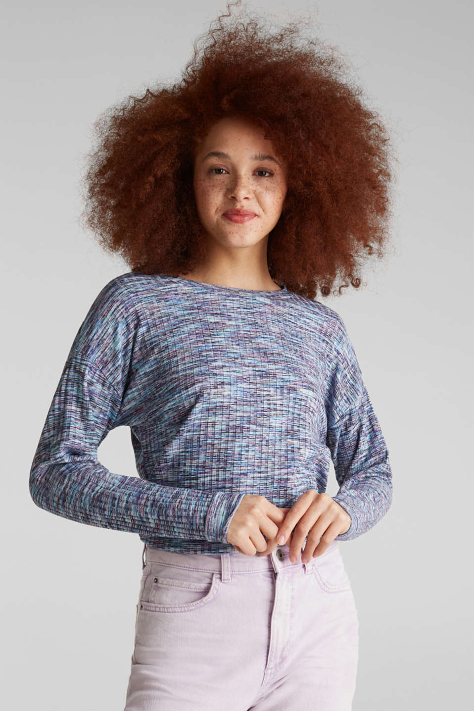 edc - Melange, multi-coloured long sleeve top