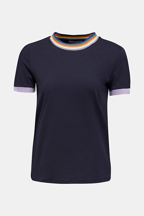 100% cotton top with multi-coloured borders