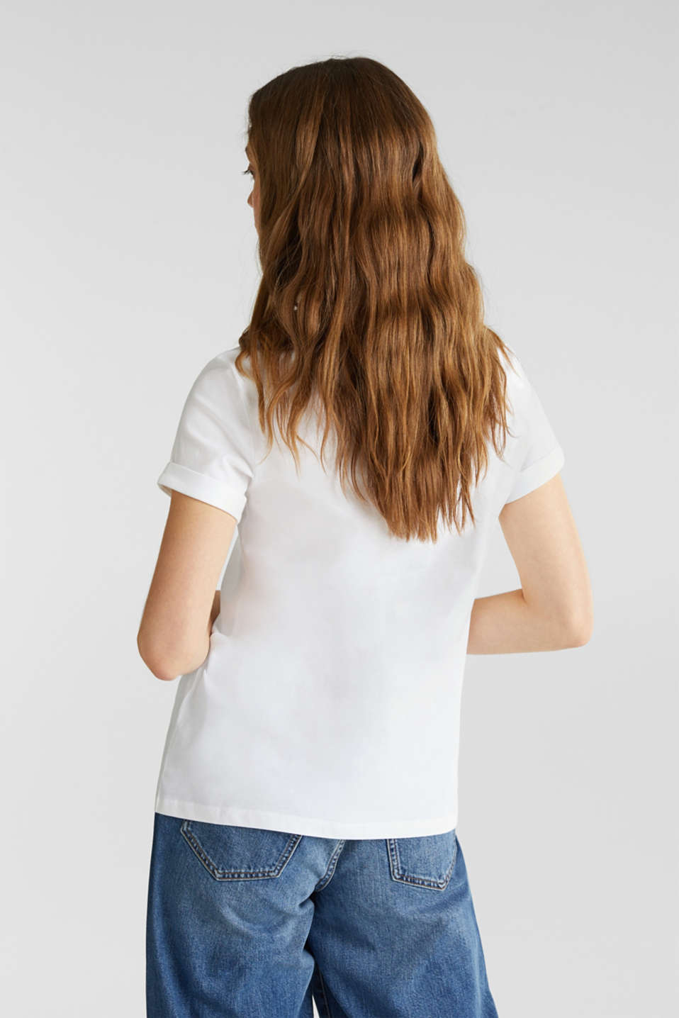 Embroidered top, 100% cotton, WHITE, detail image number 3