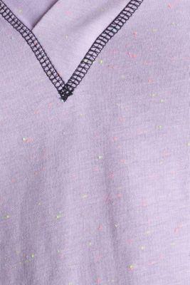 V-neck T-shirt, LILAC, detail