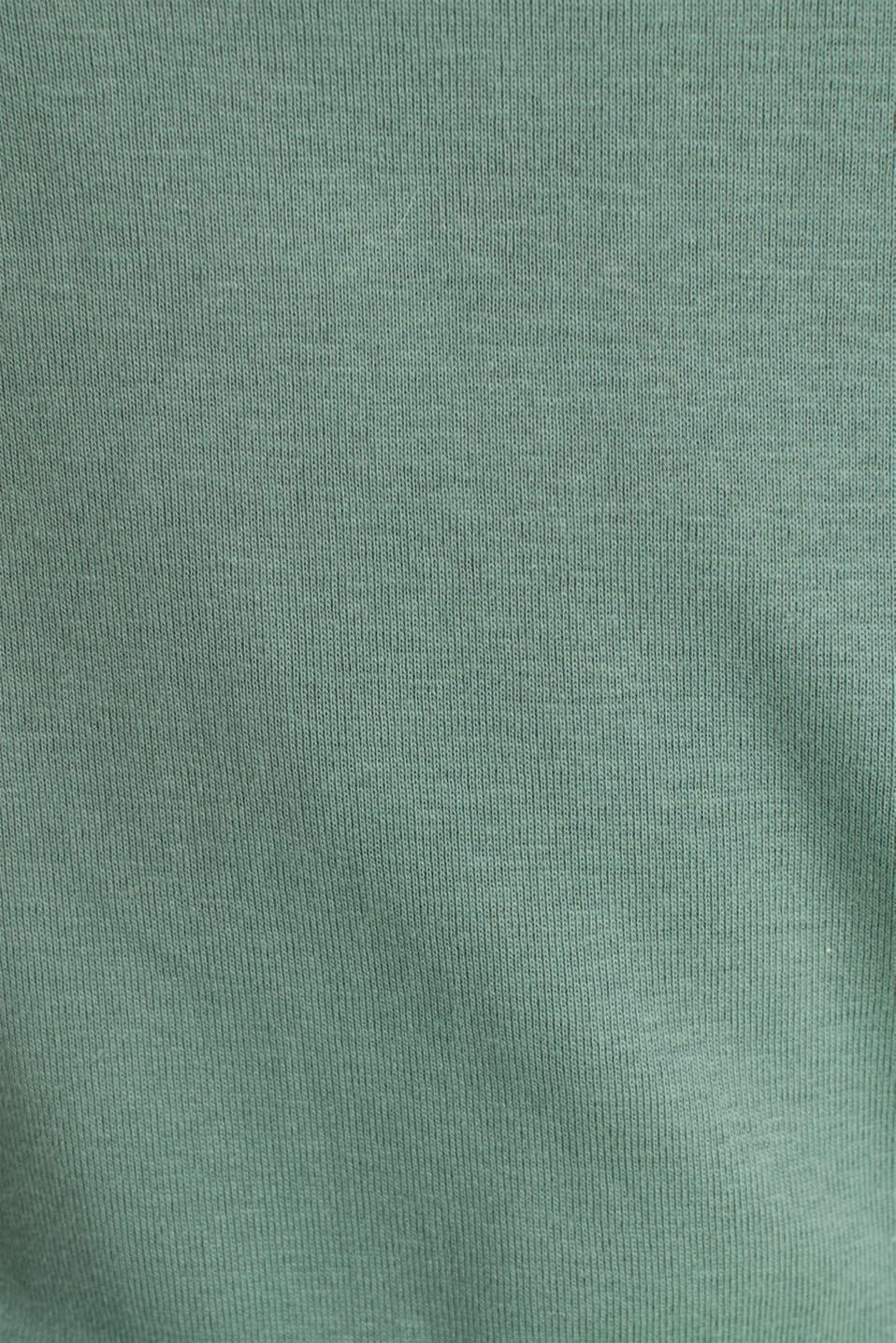 100% cotton T-shirt with contrasting trims, KHAKI GREEN, detail image number 4