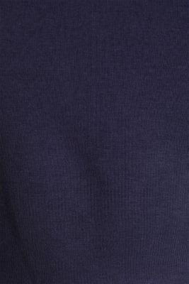 100% cotton T-shirt with contrasting trims, NAVY, detail