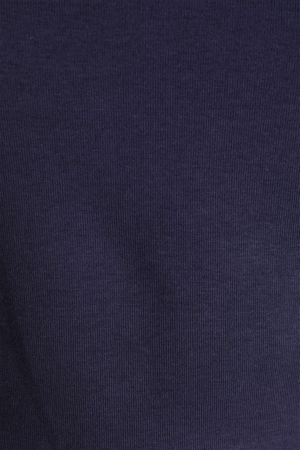 100% cotton T-shirt with contrasting trims, NAVY, detail image number 4