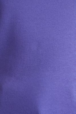 100% cotton T-shirt with contrasting trims, DARK LAVENDER, detail