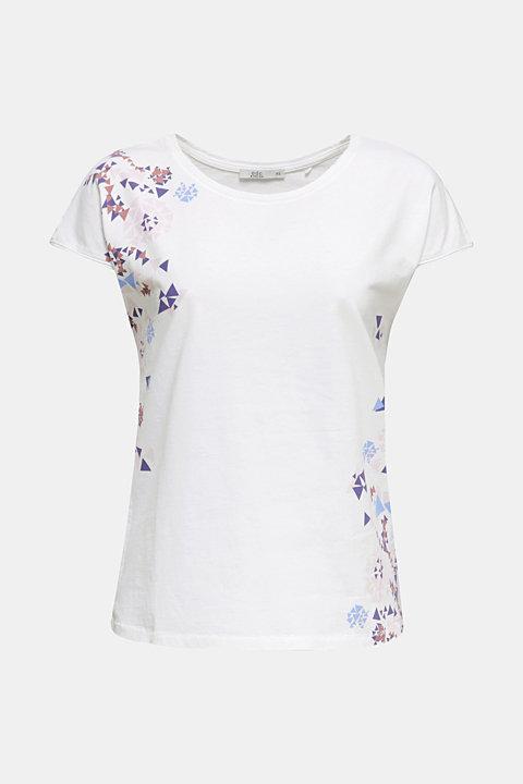 T-shirt with geometric print, 100% cotton