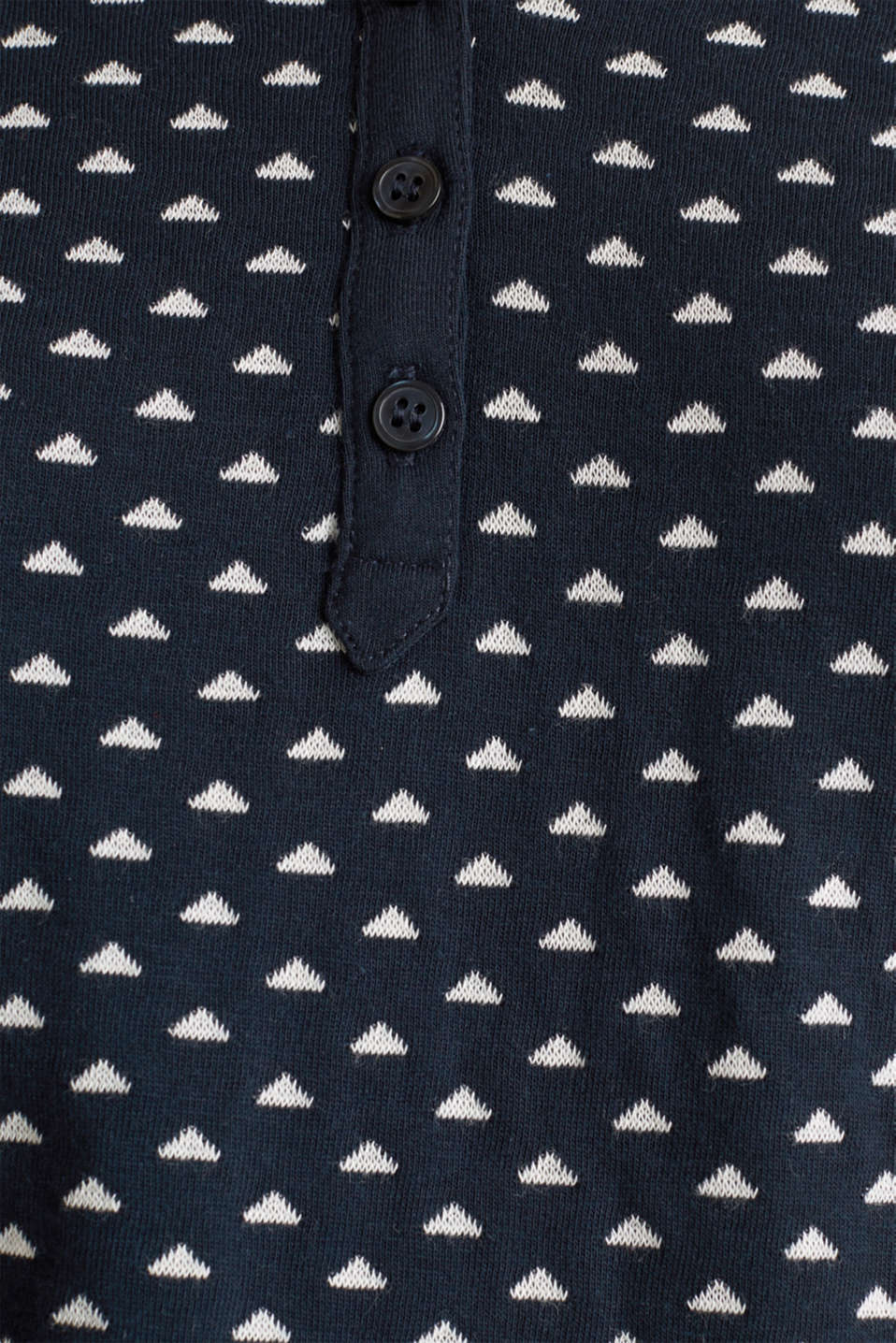 Double-faced jersey long sleeve top, 100% cotton, NAVY, detail image number 4