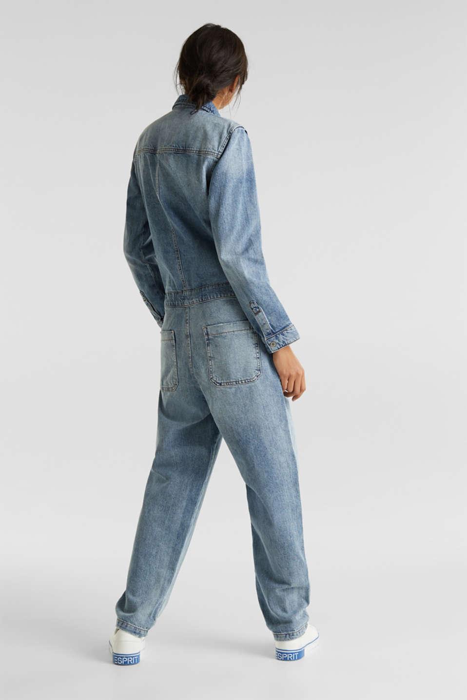 Boiler suit made of denim, BLUE LIGHT WASH, detail image number 2